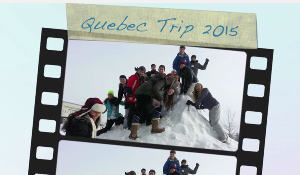 Eighth Graders Create Video of Quebec Trip