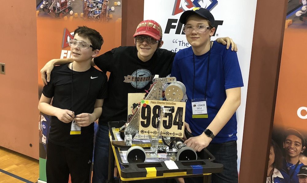Middle School Robotics Team Competes Up