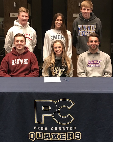 Penn Charter Athletes Sign to Play in College NLI 2018