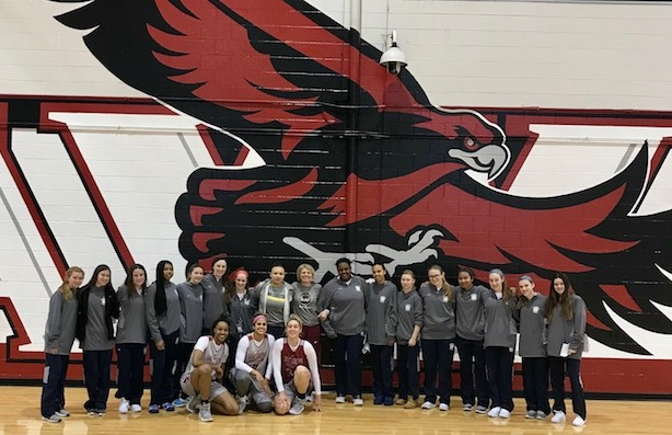 PC Girls Basketball 2018 at St Joes Hawks Practice