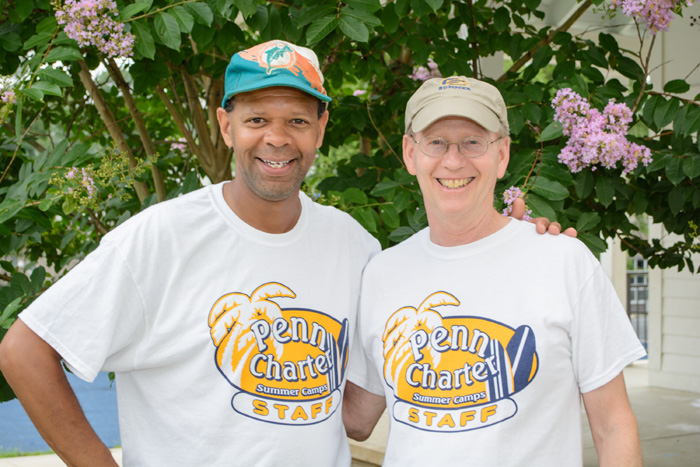 Chris Burnett and Charlie Kaesshaefer, camp directors